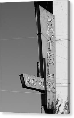 Hotel Rio Vista Canvas Print by Troy Montemayor