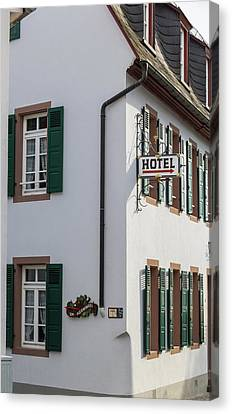 Hotel Rudesheim Germany Canvas Print by Teresa Mucha