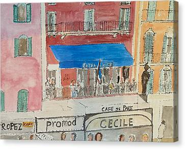 Hotel Sube St Tropez 2012 Canvas Print by Bill White