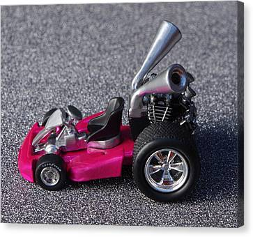 Hot Pink Custom Canvas Print - Hotwheels Go Kart by Bruce Roker