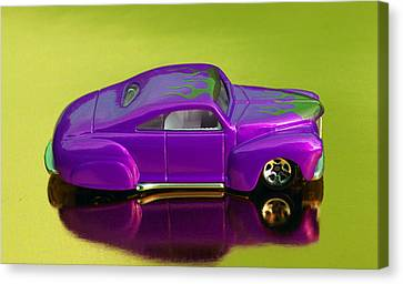 Hot Pink Custom Canvas Print - Hotwheels Taildragger Purple by Bruce Roker