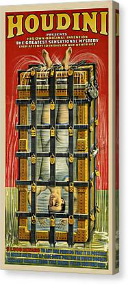 Houdini Advertisement 1916 Canvas Print by Andrew Fare