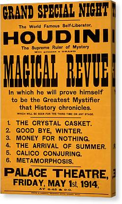 Houdini Magical Review Canvas Print
