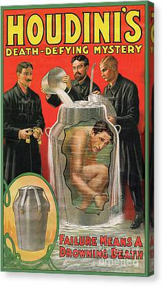 Houdini's Milk Can Death Defying Mystery Canvas Print by Jon Neidert