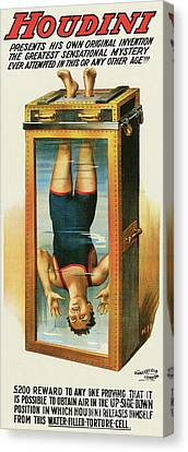 Houdini's Upsidedown Escape Canvas Print by Jon Neidert
