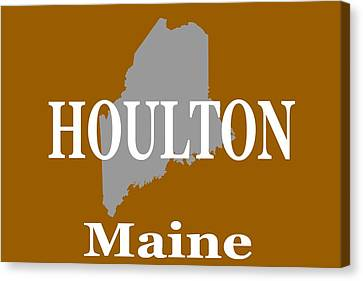 Canvas Print featuring the photograph Houlton Maine State City And Town Pride  by Keith Webber Jr