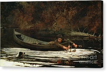 Catch Canvas Print - Hound And Hunter by Winslow Homer