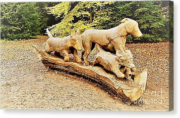 Hounds On The Run Canvas Print by John Williams
