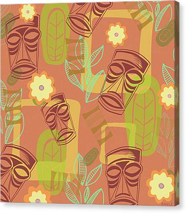 Hour At The Tiki Room Canvas Print by Little Bunny Sunshine