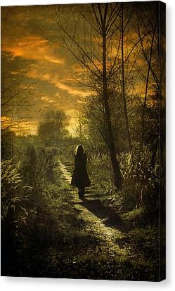 Mysterious Sunset Canvas Print - Hour Of Long Shadows by Cambion Art