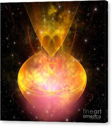 Hourglass Nebula Canvas Print by Corey Ford