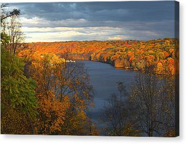 Canvas Print featuring the photograph Housatonic In Autumn by Karol Livote