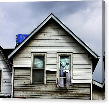 House After Tornado Canvas Print by Chris Fender