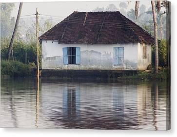 House Along The Kerala Backwaters Canvas Print