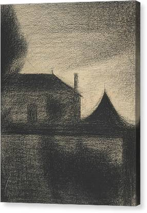 Seurat Canvas Print - House At Dusk by Georges-Pierre Seurat