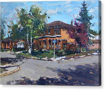 House At Goldmar Dr Mississauga On Canvas Print by Ylli Haruni