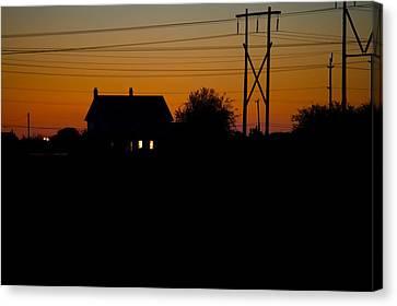 House At Sunset Canvas Print by Paul Kloschinsky