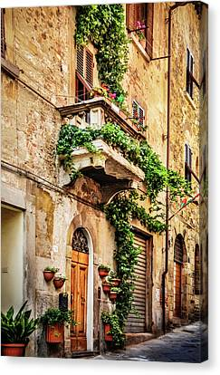 Canvas Print featuring the photograph House In Arezzoo, Italy by Marion McCristall