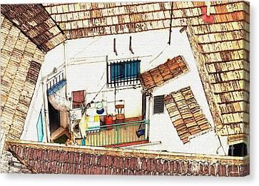 House In Santiago De La Ribera Canvas Print by Sarah Loft