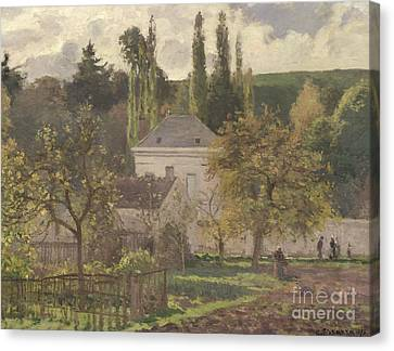 Hermitage Canvas Print - House In The Hermitage by Camille Pissarro