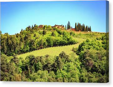 House In The Hillside Of Chianti Italy Canvas Print