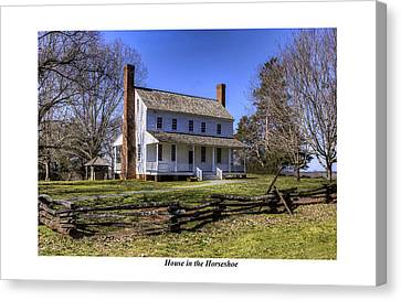 House In The Horseshoe Canvas Print by Terry Spencer