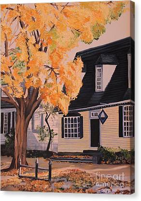 House In Williamsburg  Va Canvas Print