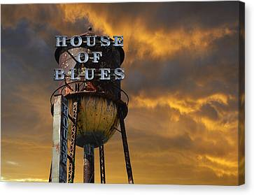 Canvas Print featuring the photograph House Of Blues  by Laura Fasulo