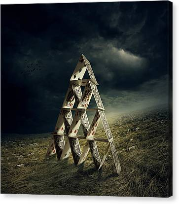 House Of Cards Canvas Print by Zoltan Toth