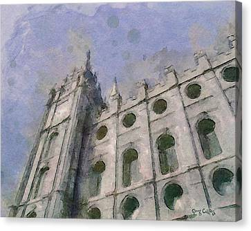 Canvas Print featuring the painting House Of Faith by Greg Collins