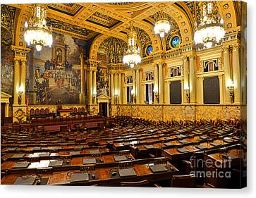 House Of Representatives Chamber In Harrisburg Pa Canvas Print by Olivier Le Queinec