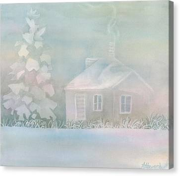 House Of Snow And Fog Canvas Print by Anne Havard