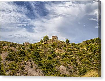 House On A Hill Canvas Print by Georgia Fowler