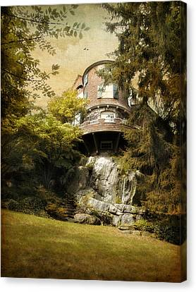 House On A Hill Canvas Print by Jessica Jenney