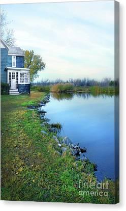 House On A Lake Canvas Print by Jill Battaglia