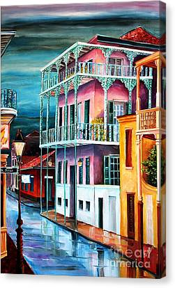House On Dauphine Street Canvas Print by Diane Millsap