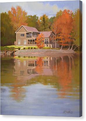 Lake Wylie Canvas Print - House On Gauguin by Todd Baxter