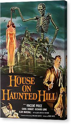House On Haunted Hill 1958 Canvas Print by Mountain Dreams