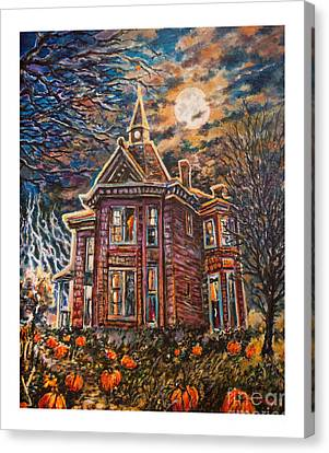 House On Pumpkin Hill Canvas Print by William Vanya