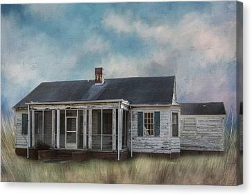 Canvas Print featuring the photograph House On The Hill by Kim Hojnacki