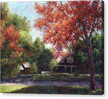 House On The Hill Canvas Print by Susan Savad