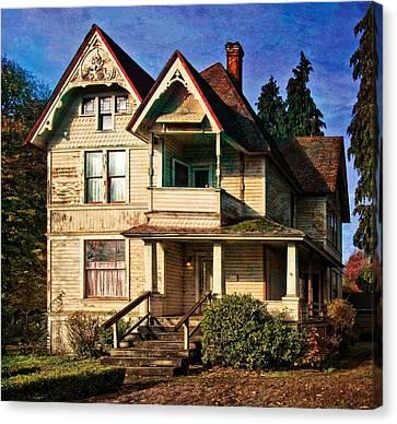 House On The Tracks Canvas Print by Thom Zehrfeld