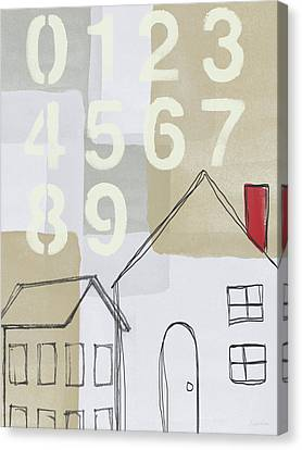 House Plans 3- Art By Linda Woods Canvas Print by Linda Woods