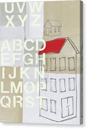 House Plans- Art By Linda Woods Canvas Print