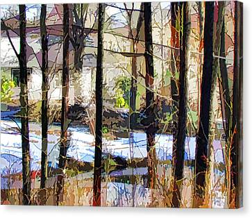House Surrounded By Trees 2 Canvas Print by Lanjee Chee