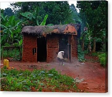 Housecleaning Africa Style Canvas Print by Exploramum Exploramum