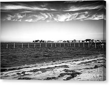 Canvas Print featuring the photograph Houses Across Barnegat Bay by John Rizzuto