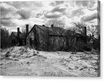 Abandoned House Canvas Print - Houses In The Dunes by H James Hoff