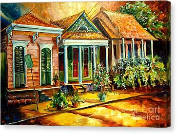 Houses In The Marigny Canvas Print by Diane Millsap