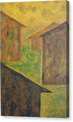Houses Of 1954 Canvas Print by Biagio Civale